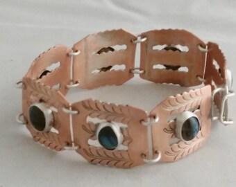 Upcycled Copper and Labradorite Bracelet