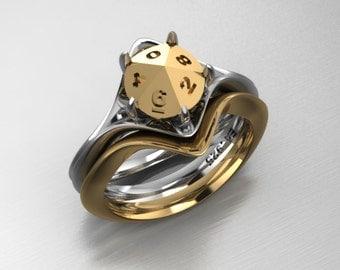 Custom D10 Matching Wedding Band in 14k yellow gold