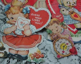 Vintage Valentines Lot, Ephemera, Scrapbooking, Journaling, 1960's Nostalgia