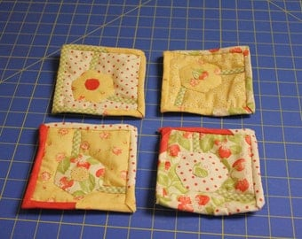Set of 4 Quilted Mug Rugs