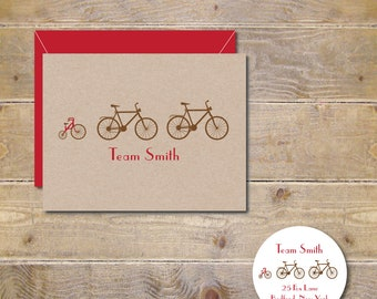 Baby Thank You Cards, Baby Announcements, Bicycles, Birth Announcements, Tricycles, New Baby, Bikes, Bicycle Baby Cards -Set of 100