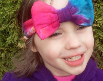 Tie Dye Infant Hairbow Headband