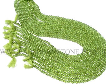Peridot Smooth Round (Quality A+) / 3.50 to 4 mm / 36 cm / PE-047