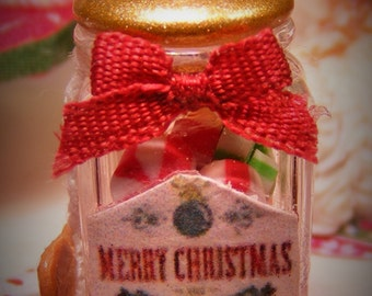 12th Scale Dolls House Festive Jar of Holiday Candies