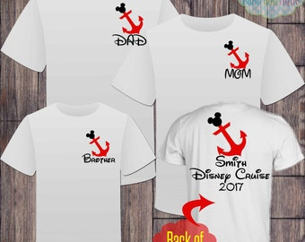 Matching Disney Cruise Family Vacation Tshirts - Mickey Mouse - Disney Cruise - Matching Vacation Shirts - Minnie Mouse