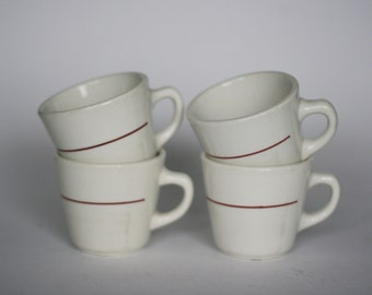 vintage homer laughlin restaurant china diner coffee cups