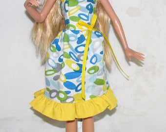 Paisley Barbie Dress with Yellow Ribbon!