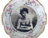 The Tattooed Lady Portrait Plate 7.75""