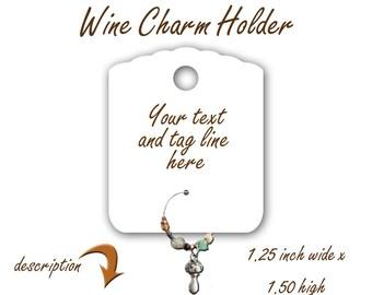 Wine Charm Holder, Single Hole Wine Charm Holder, Charm Holder, Jewelry Charm Holder, Jewelry Display, Single Ear Card Holder