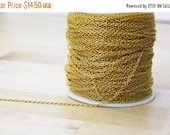 MOVING SALE 30 Feet Spool Gold Plated Round Cable Chain 2x1.5mm Soldered Links [CHN14071] Nickel Free