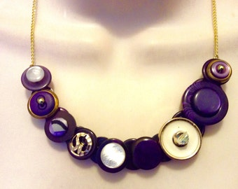 Passionate for Purple button necklace