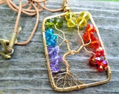 Chakra Brass Tree of Life