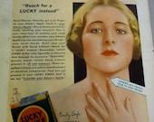 Lucky Strike Cigarettes Advertising 1931 Magazine Ad Promoting Smoking Woman Advertising Lucky Strike No Harm Smoking