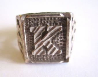Sterling Men's Ring - Sz 9.5