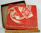 Coca Cola Box 1940s Game Box 4961 CC Empty with Lid Ephemera and Coke Ruler 12 Inch