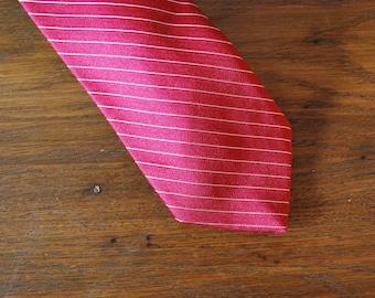 1980 80s Mens Red Tie Macy's Mens Shop power tie