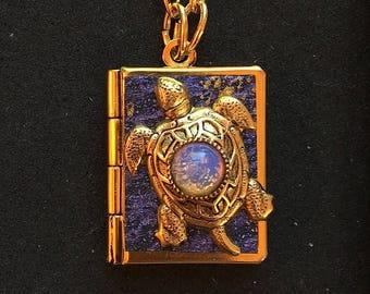 Sea Turtle Peace Book-purple and gold