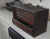 Very Nice Old Solid Wood Machinest Chest Box