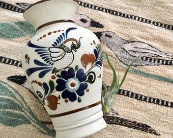 Vintage Tonala Mexican Vase // Mexican Folk Art