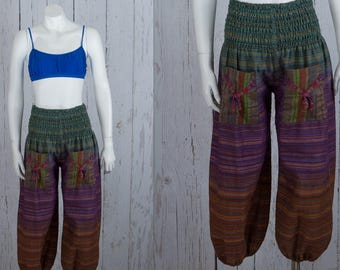 90s harem pants | Indian cotton cropped pants
