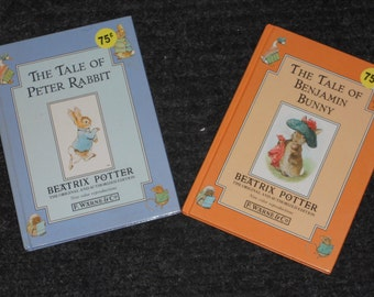 Beatrix Potter Books-The Tale of Peter Rabbit & The Tale of Benjamin Bunny-Lot of 2