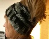 Crochet Messy Bun Pony Tail Hat