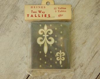 Vintage 50s-60s Fleur de Lis Bridge Tally Cards/ Dead Stock/Retro/Mid Century