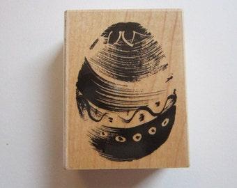 rubber stamp - Penny Black EASTER EGG - 2834H - brush stroke egg stamp - circa 2004