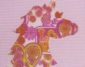Unicorn applique- Iron on applique- DIY- no sew iron on-  applique- unicorn iron on- do it yourself- fabric iron on- iron on transfer