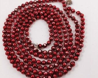 Vintage Red Glass Garland