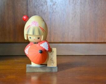 vintage japanese kokeshi doll / handmade vintage / vintage doll