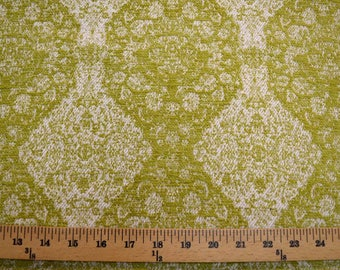 Green Damask Upholstery Fabric