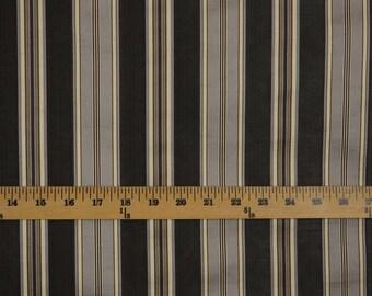 Leonidas Smoke Grey Silver Stripe Fabric