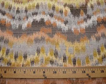 Flamestitch Ikat Grey Fabric
