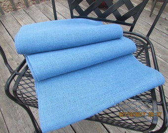 "Blue or Oyster burlap table runner 14"" x 90"""