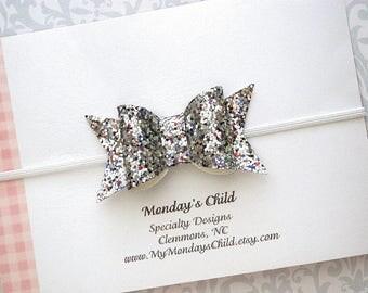 4th of July Baby Headband, 4th of July Headband, 4th of July Baby Girl, Glitter Baby Bow, Glitter Bow Headband, Baby Headband, Toddler Bow