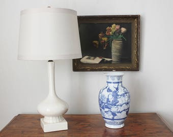 Mid Century White Lamp