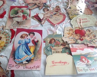 Victorian Die Cuts Children Cherubs Angels Valentines