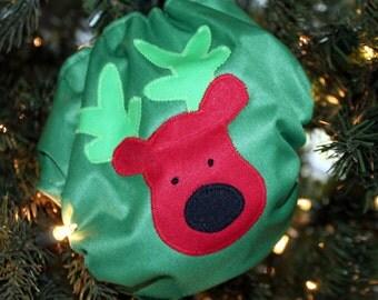 35% off Christmas Reindeer Applique AIO cloth diaper
