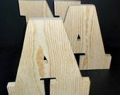 Pkg of 5 Unfinished Wood  Letters Style  6