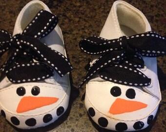 Snowman Crib Shoes
