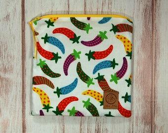 Reusable Sandwich Bag - Sandwich Bag - Zipper Pouch - Zipper Bag - Fiesta Chile Peppers