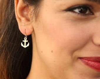 Anchor Earrings, Anchor Jewelry, Urban Earrings, Vacation Jewelry, Ocean Jewelry, Nautical Jewelry, Sweet 16 Gift, Teen Girl Gifts, Sea Life