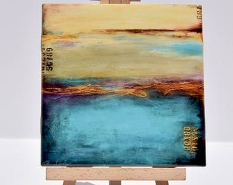 ART ON TILE Abstract Art coasters Decorative Home Decor