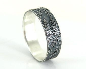 Fern Ring, Silver Ring, Rustic Ring, Naturelover Ring, Engagement Ring, Artisan Ring, Wedding Ring, Woodland Ring, Organic Ring, Gift