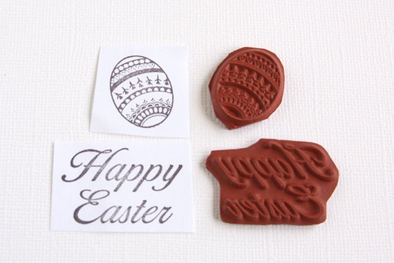 Easter Stamps Easter Egg Happy Easter Unmounted Red Rubber Stamp – Easter Stamps Card Making