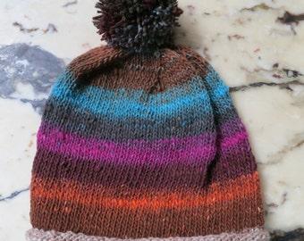 Handknit HAT 100% Wool Cap Beanie