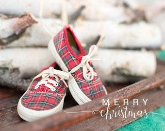 Vintage Christmas shoes -Christmas photography - winter decor- holiday photo- birch logs - Christmas photo- Merry Christmas -  FREE Shipping