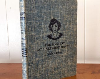Vintage Book Decor The Mystery at Hartwood House by Julie Tatham Vicki Barr Flight Stewardess
