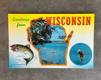 Vintage Wisconsin Post Card - Unused